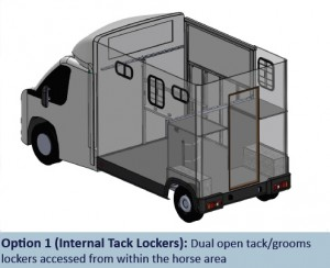 Atom Option 1 - Internal Tack Lockers