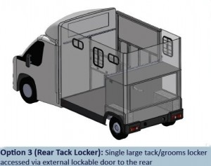 Atom Option 3 - Rear Tack Lockers